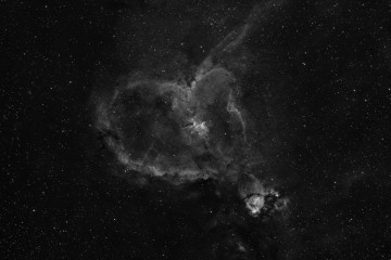 the Heart nebula in hydrogen-alpha
